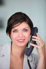 Businesswoman on the telephone