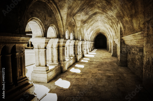 Naklejka Abbaye de Fontenay brama retro, Francja