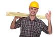 Carpenter giving ok gesture