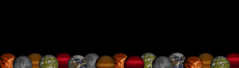Planets footer or header