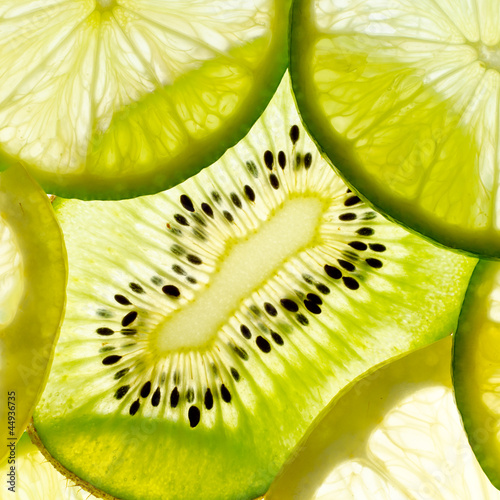 fruit mix ( lime, lemon, kiwi) © Tryfonov