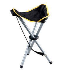 Portable camping chair isolated