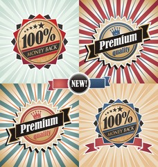 Vintage quality and guaranteed backgrounds and labels