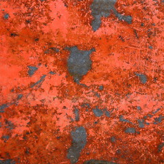 Abstract Backgound Texture Of Red Rusty Metal