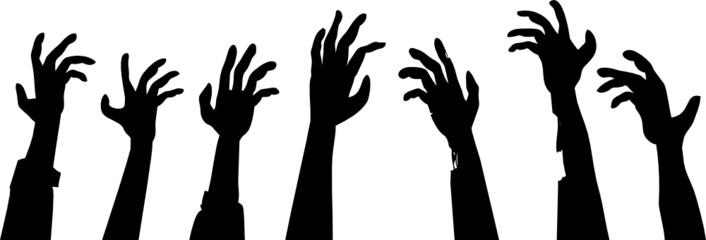 Zombie Hands Footer