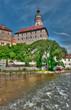Schloss über der Moldau in Krumlov, Tschechien