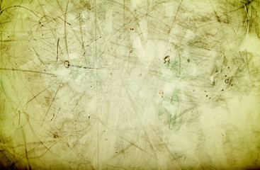 Cracks and stains on a vintage textured background