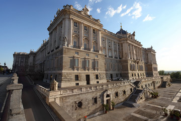 View of Royal palace in Madrid.