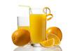 image of orange slice with orange in glass