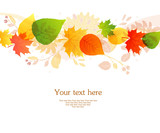 Vector illustration of Autumn leafs back