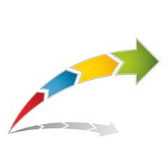 Prozesspfeil - Vorlage - mit 4 Abschnitten