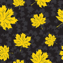 Beautiful seamless autumn background, vector eps8