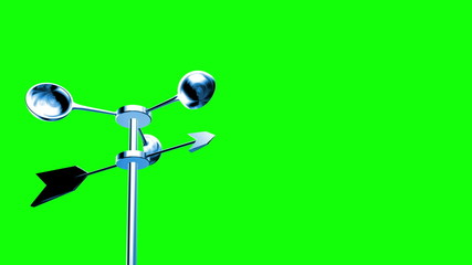 Anemometer - Wind Meter (Loop on Green Screen)