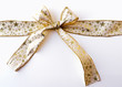 Christmas Ribbon against white background