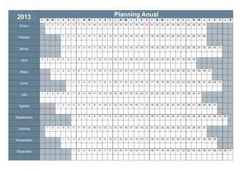 Planning 2013 Spanish