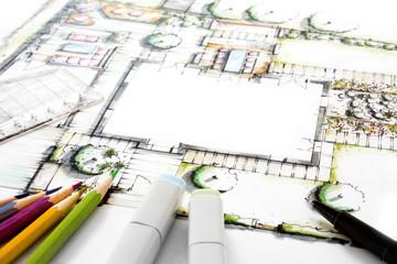 Gartenplanung - Entwurfsskizze
