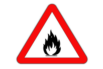 Fire danger road sign.
