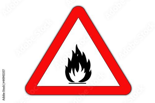 Fire danger road sign.
