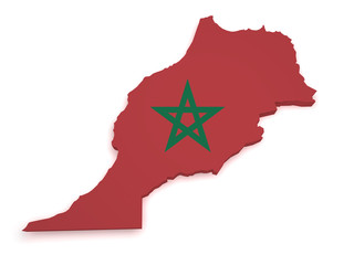 Morocco Map 3d Shape