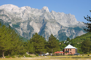 Albanian Alps From Theth Valley