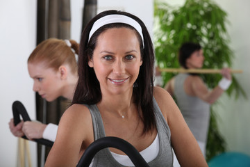 Women in fitness room