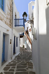Typical small street in a Greece