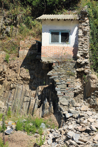 ruined house after flood in Vernazza, Cinque Terre Italy