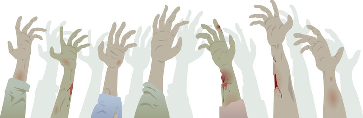 Zombie Hands Footer Colour