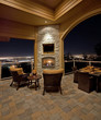 Beautiful Outdoor Patio at Night with City View