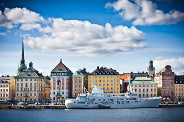 Beautiful view of Gamla Stan, Old City Stockholm, Sweden