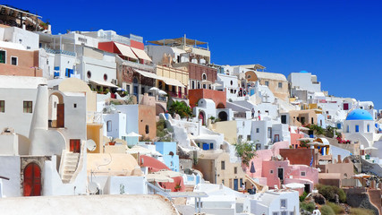 beautiful view of oia in santorini