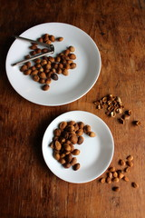 Two Plates of Apricot seeds