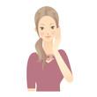 女性 顔 スキンケア イラスト