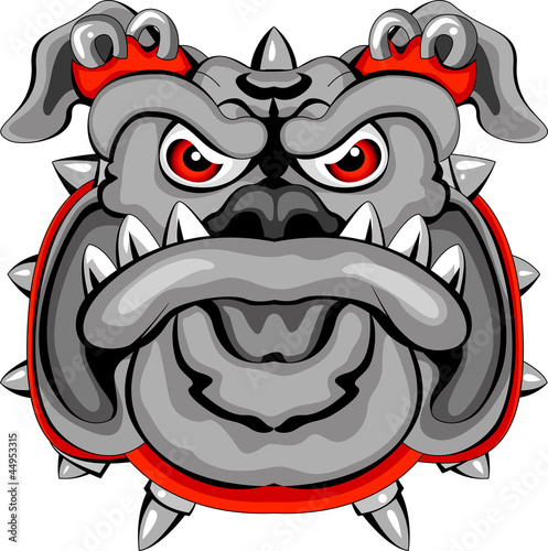 Bulldog Mascot Head