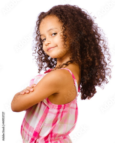 Portrait of mixed race girl