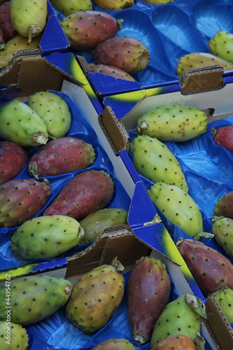 Cactus figs at a market