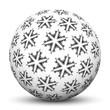 Kugel, Christbaumschmuck, Weihnachten, Christmas, Eiskristalle