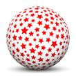 Kugel, 3D, Sterne, Sternchen, Sphere, Ball, Weihnachten, X-MAS
