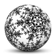 Kugel, Weihnachtskugel, Weihnachten, Christmas, Eisblume, Deko