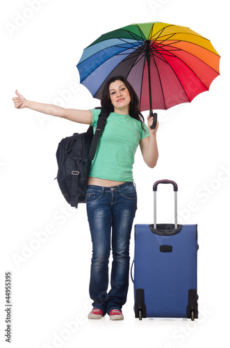 Girl preparing for her summer vacation