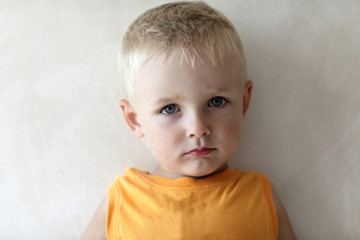 Portrait of serious child