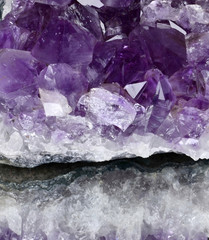 Beautiful amethyst druse close-up .