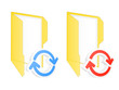 Synchronization folder icon. Vector illustration