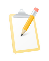 Clipboard icon. Vector illustration