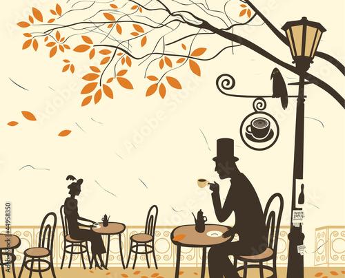 jesienne-kawiarnie-i-romantyczny-zwiazek-miedzy-mezczyzna-i-kobieta
