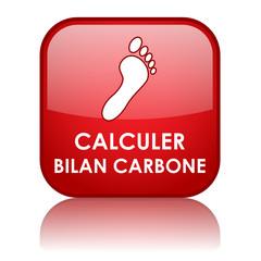 Bouton CALCULER BILAN CARBONE (empreinte écologie dioxyde CO2)