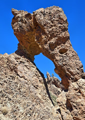 Zapatilla de la Reina, rock formation in Teide National Park
