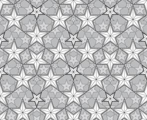 Stars seamless pattern.