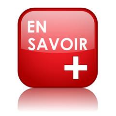 """Bouton Web """"EN SAVOIR +"""" (à propos liens lire informations)"""
