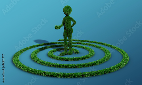green grass man